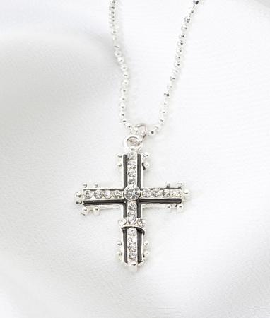 Beautiful diamond cross necklace Stock Photo - 16723866