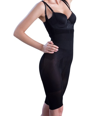 Lingerie corset make you slim and help your breast up Stock Photo