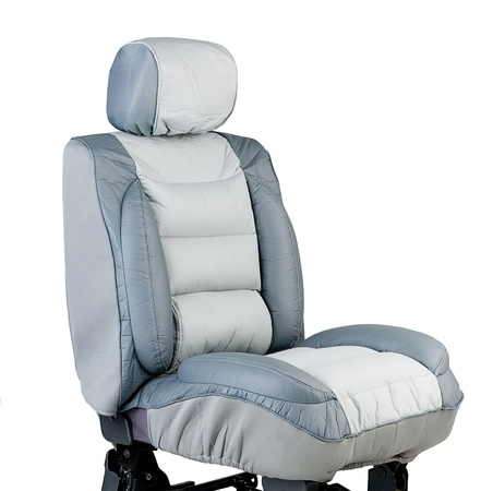 Leather car seat cover cushions to protect your car seat from dirty photo