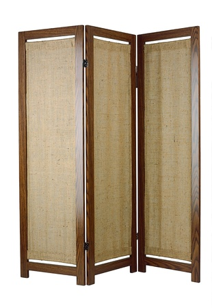 tabique: Una partici�n de tela con marco de madera para la decoraci�n del hogar