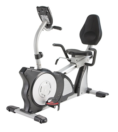 home gym: Many functions of bicycle machine for fitness or home