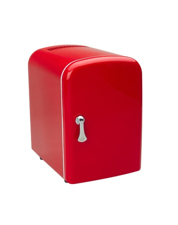 A small red refrigerator for storage small things or cosmetic Stock Photo - 16806422