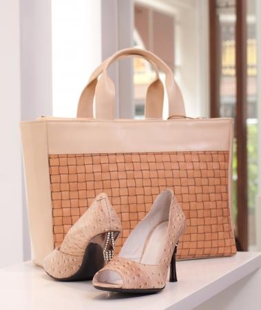 Beautiful high heel shoe and luxury handbag