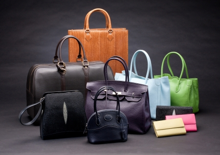 fashion bag: Set of beautiful leather handbags
