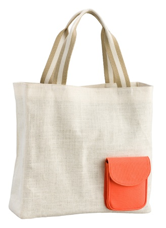 handlers:  Reusable cloth bag for reduce plastic bag when shopping