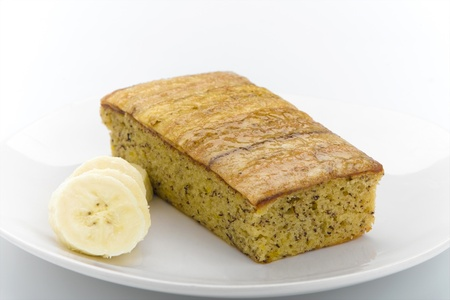 custard slices: Delicious banana flavor cake topping with banana