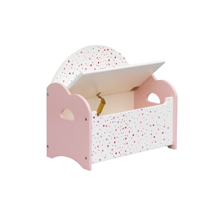 A cute kid chair designed to have a box under the seat for keeping toys or something Stock Photo - 16844716
