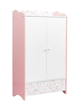 A cute wardrobe for a girl bedroom photo