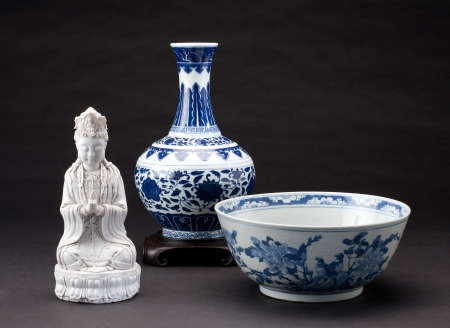 collectible: Ancient chinese porcelains for collectible Stock Photo