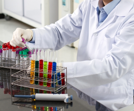 pharmacy technician: Pharmacist in a lab of pharmaceutical