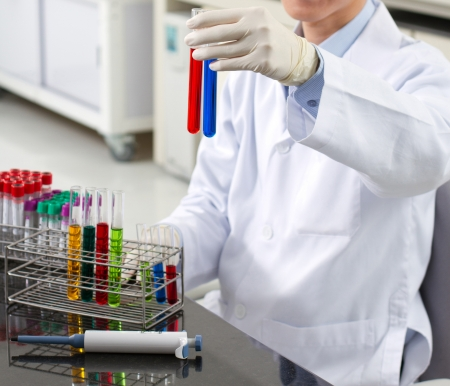 Pharmacist in a lab of pharmaceutical