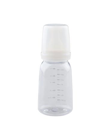 Empty baby bottle on white background Stock Photo - 16894173