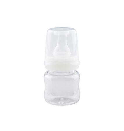 Empty baby bottle on white background Stock Photo - 16894163