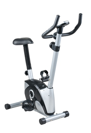 Bicycle exercise machine for use in fitness gym or home