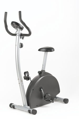 Stationary training bicycle good for exercise at home or gym photo