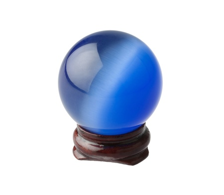 The blue crystal magic ball Stock Photo - 16894264