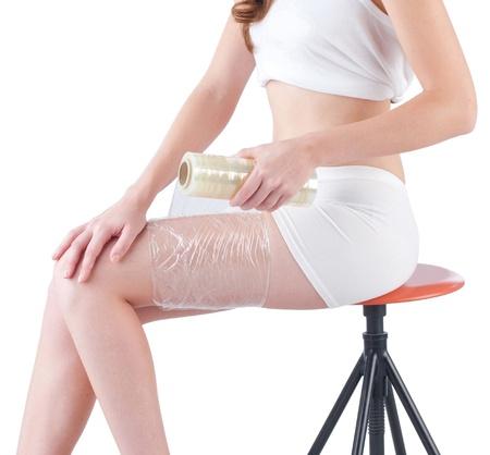 expresion corporal: Envoltura de plástico puede ayudar a adelgazar