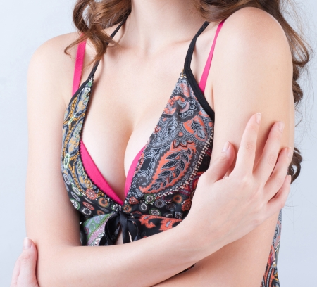 Always check your breast to protect yourself from cancer Stock Photo