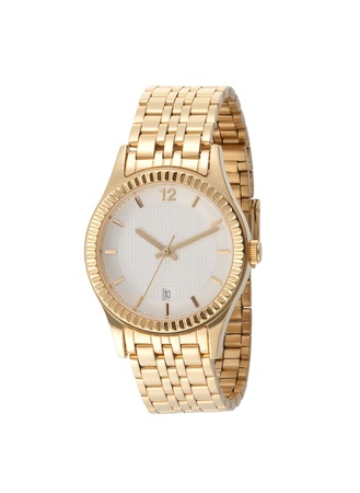 A golden lady wristwatch photo