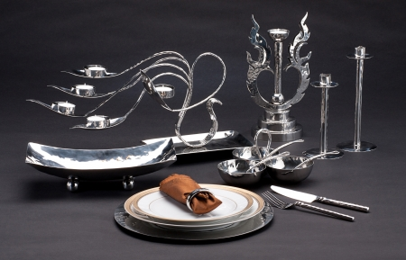 Set of luxury stainless tableware Stock Photo - 16920992