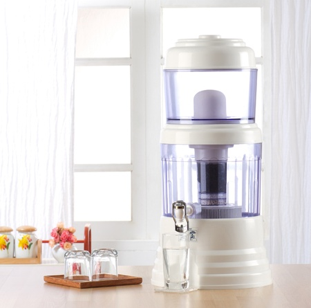 Water filter for cleaning drinking water