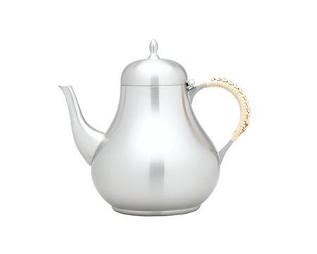 pewter mug: Nice teapot for your tea or coffee time Stock Photo