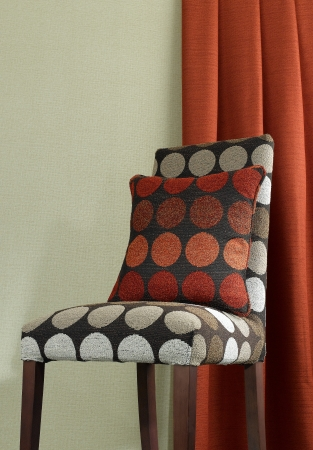Luxury chair and cushion with beautiful curtain background Stock Photo - 16930808