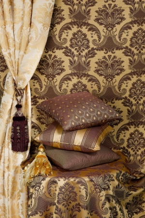 Decorate your home with beautiful cushions and curtain