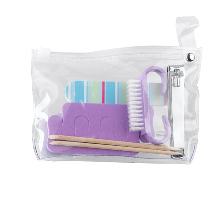 Women's manicure set transparent bag Stock Photo - 16930763
