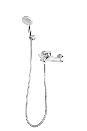A metallic shower head with faucet Stock Photo - 16930750