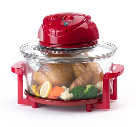 Red electric convection oven for more comfortable cooking