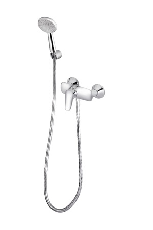 A metallic shower head with faucet Stock Photo - 16966299
