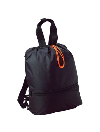 A small fabric backpack for student or travel photo