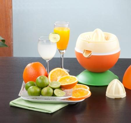 juice squeezer:  Lets make orange juice by squeezer