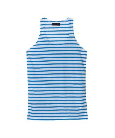 strip shirt: Beautiful woman singlet nice for summer Stock Photo