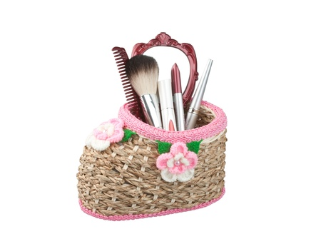 homemade style: Rattan basket in the shape of shoe for keeping stuff or make up accessories