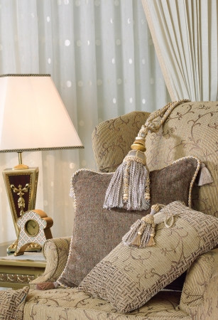 beautiful tassels on luxury armchair photo