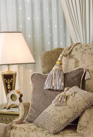 beautiful tassels on luxury armchair