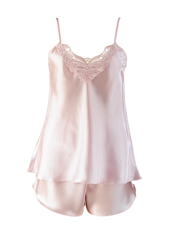 girls underwear:  Beautiful woman sleepwear decorated with lace Stock Photo