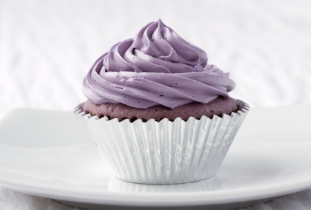 taro: Eatable taro cupcake ready to serve for you Stock Photo
