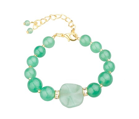 green gemstone bracelet a cute jewelry from nature