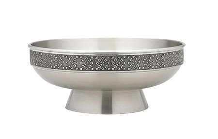 A luxury pewter salad bowl Stock Photo - 17329818