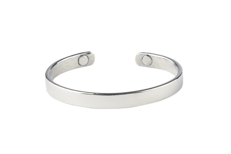 bangle: A luxury silver bracelet nice for collection