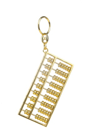 A golden key chain in shape of abacus photo