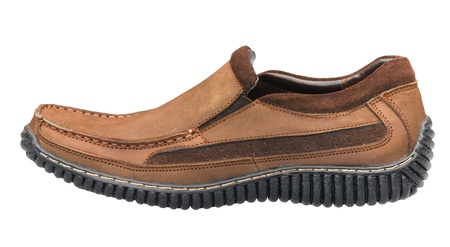 A casual leather man's shoe for outdoor activities in relaxing day Stock Photo - 17342345