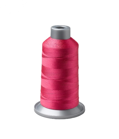 polyester: Bobbin of red tread Stock Photo