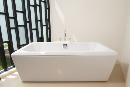 Luxury bath tub with faucet Stock Photo - 17342384