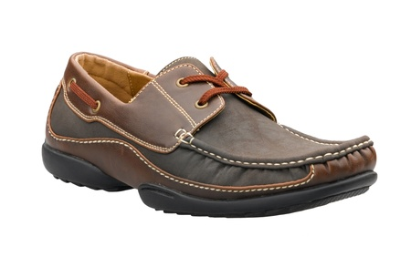 A casual leather man's shoe for outdoor activities in relaxing day Stock Photo - 17433523