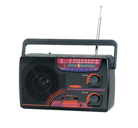 Nice and old fashioned design of the transistor radio Stock Photo