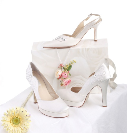 Luxury bride's shoes for beautiful bride Stock Photo - 17510592